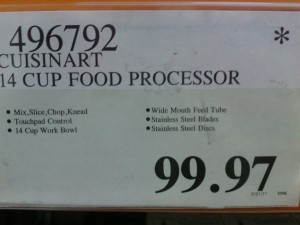 Picture of Cuisinart 14 Cup Food Processor on Costco Clearance $99.97