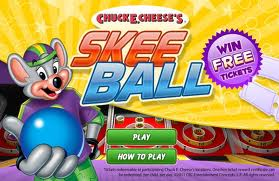Win tickets at Skeeball online at Chuck E. Cheese's