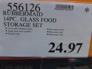 Costco Clearance Rubbermaid 14 pc Glass Food Storage Set Price