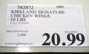 Kirkland Signature Chicken Wings 10 pounds Costco Price