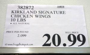 Kirkland Signature Chicken Wings 10 pounds Costco Price
