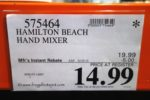 Hamilton Beach Soft Scrape Hand Mixer Costco Sale Price