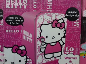 Hello Kitty Mini Fridge Pink