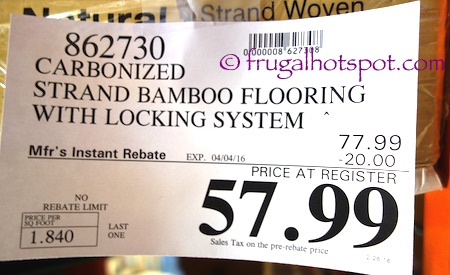 Golden Arowana Carbonized Strand Bamboo Flooring Costco Price | Frugal Hotspot