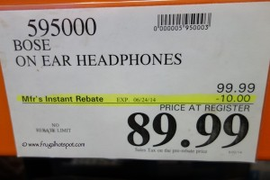 Bose OE On Ear Headphones Costco Price