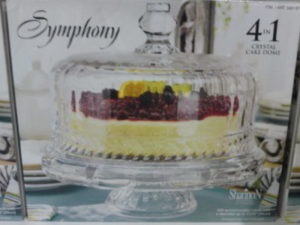 "Shannon Crystal ""Symphony"" 4-In-1 Crystal Cake Dome"