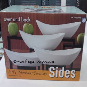 Costco Sale: Sides 4 Piece Porcelain Bowl Set by Over and Back ...