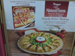 "15"" Round Pizza Stone by Haeger with Cookbook"