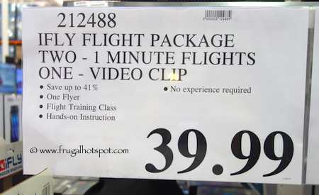 iFly Flight Package Costco Price