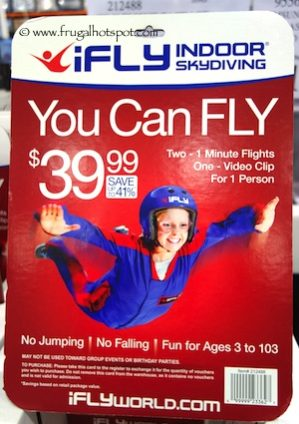 iFly Indoor Skydiving Package Costco | Frugal Hotspot