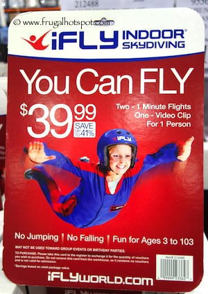 iFly Indoor Skydiving Package Costco