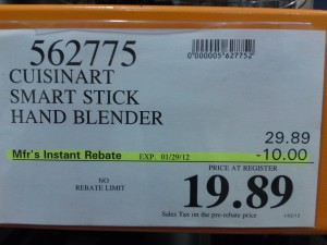 Cuisinart Smart Stick Hand Blender With Whisk & Chopper Attachments Price at Costco