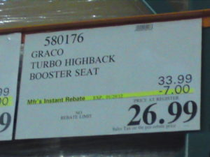 Graco Booster Seat Price at Costco | Frugal Hotspot
