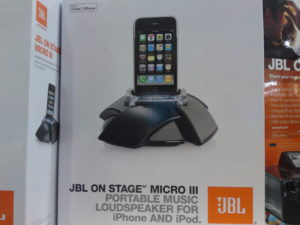 Picture of JBL On Stage Micro III Portable Music Loudspeaker for iPhone and iPod at Costco | Frugal hotspot