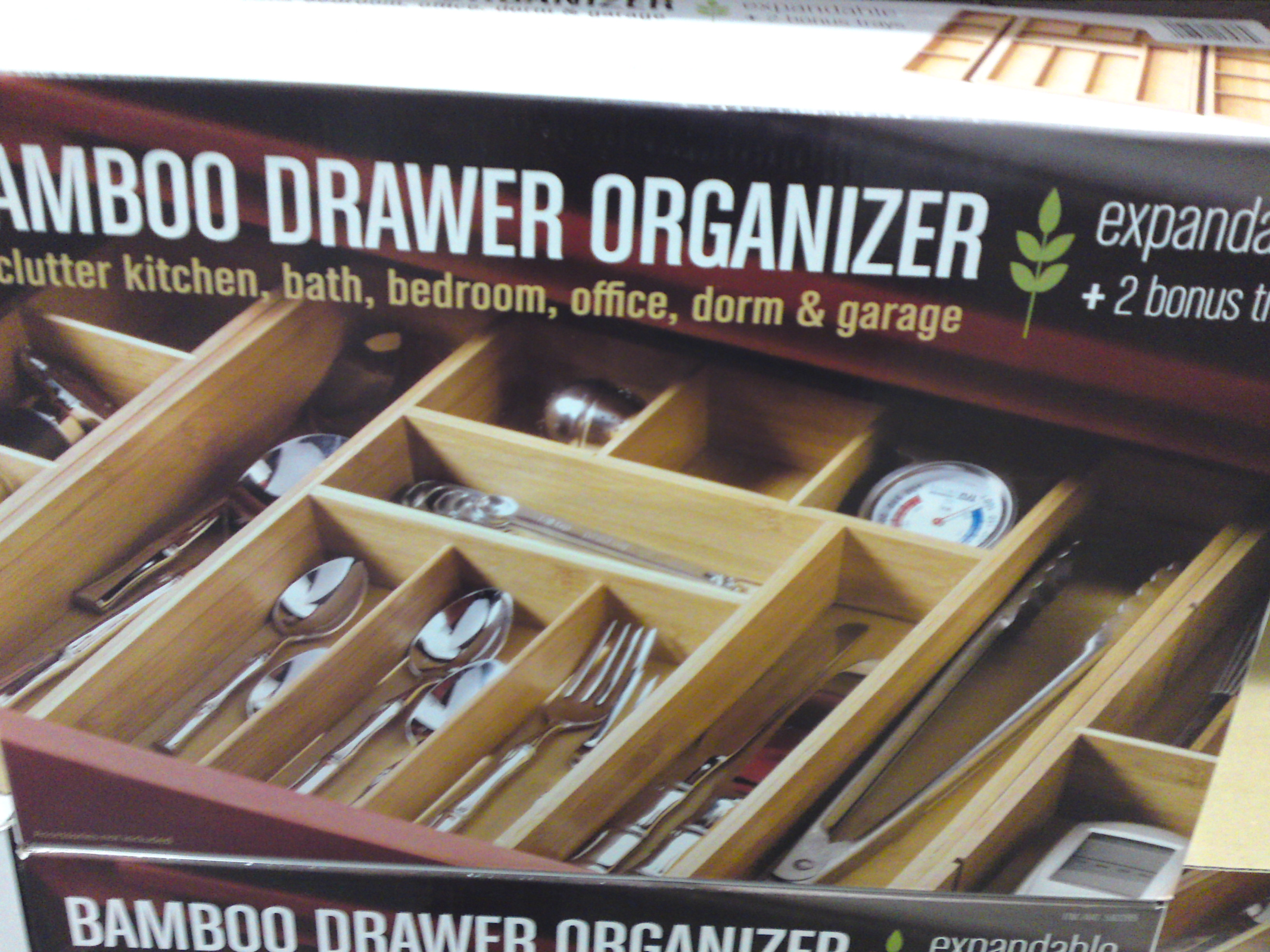 Costco Seville Clics Bamboo Drawer Expandable Organizer Plus 2 Bonus Trays 19 99 Frugal Hotspot