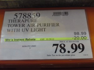 Therapure Air Purifier Price at Costco