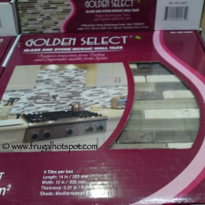 Costco Price Cut Golden Select Glass Amp Stone Mosaic Wall