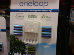 Costco Price Cut: Sanyo Eneloop Ni-MH Charger and 8 Rechargeable AA & 4 Rechargeable AAA Batteries $20.99