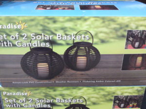 Costco Sale: Set of 2 Solar Rattan-Look Baskets with Candles $14.49