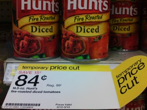 Target Price Cut Hunts Tomatoes $0.84 for a limited time