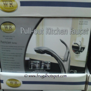 Costco Price Cut Water Ridge Brushed Nickel Pull Out Kitchen Faucet