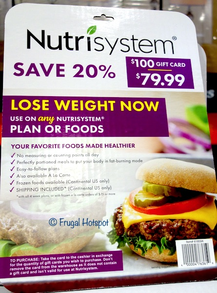 $100 Nutrisystem Gift Card Costco