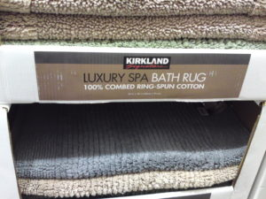 Costco Clearance: Kirkland Signature 100% Cotton Reversible Luxury Spa Bath Rug 24″ x 36″ $11.97