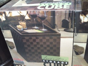 Seville Classics Decorative Woven Storage Cube with Bamboo Tray at Costco