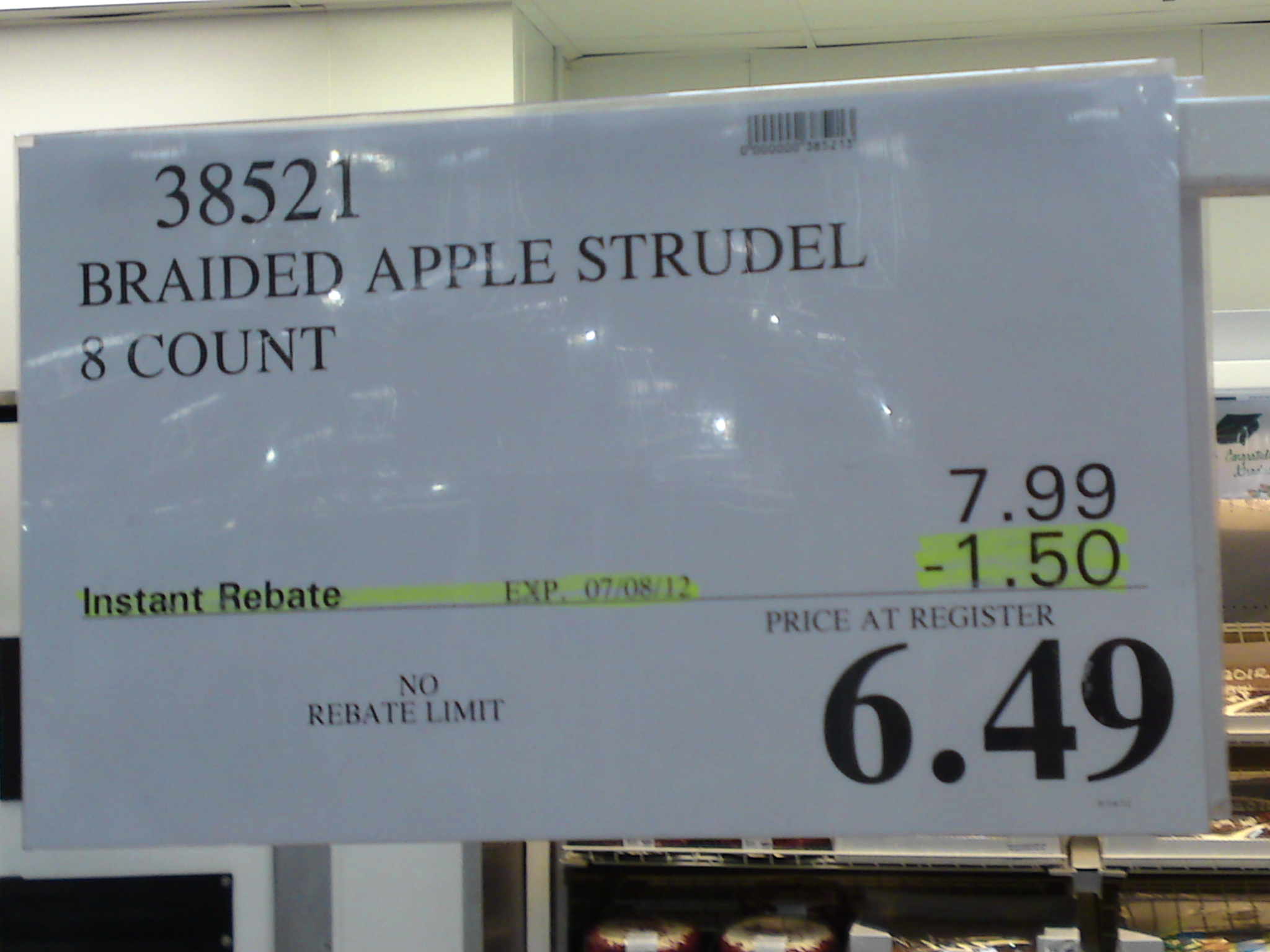 Costco Deal: Braided Apple Strudel 8 Count $6.49 | Frugal ...