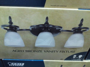 Feit Electric 3 Light Vanity Light Aged Bronze Finish at Costco