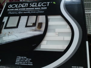 Golden Select Casablanca Marble, Glass and Stone Mosaic Wall Tile 5 Piece at Costco
