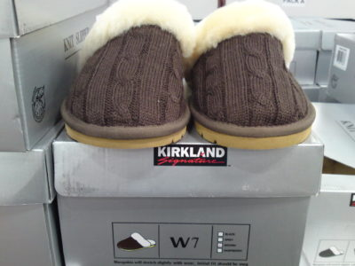 Kirkland Signature Knit Slipper Front View at Costco