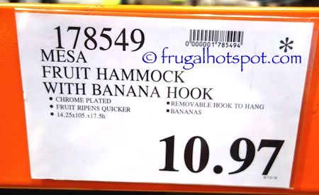 Mesa Fruit Hammock with Banana Hook Costco Price | Frugal Hotspot