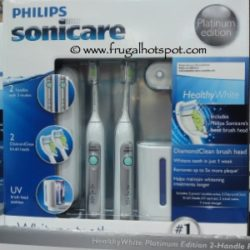Philips Sonicare Healthy White UV Rechargeable Toothbrush Dual Pack at Costco