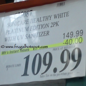 Sonicare Healthy White Toothbrush Costco Price