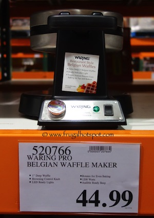 Waring Belgian Waffle Maker (WWM450PC) Costco Price