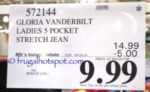 Gloria Vanderbilt Ladies Amanda Jeans Costco Price
