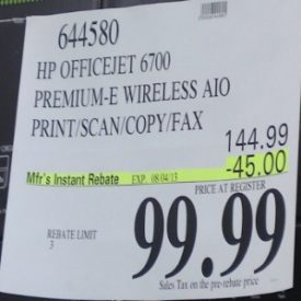 HP Officejet 6700 Premium e-All-in-One Wireless Printer Costco Price