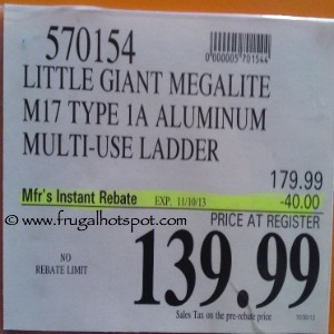 Little Giant Megalite M17 1A Aluminum Multi-Use Ladder Costco Price