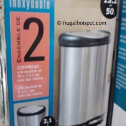 Stainless Steel Trash Can Combo (13.2 Gallon & 2.1 Gallon) at Costco