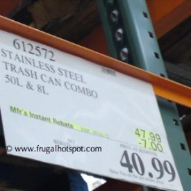 Stainless Steel Trash Can Combo (13.2 Gallon & 2.1 Gallon) Costco Price