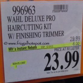 Wahl Deluxe Pro Haircutting Kit with Finishing Trimmer Costco Price