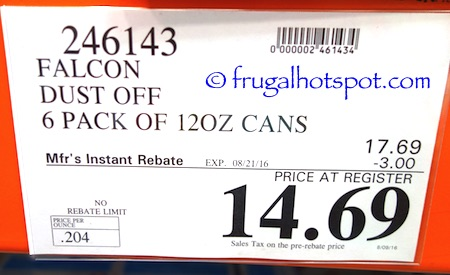 Falcon Dust-Off Professional Compressed Gas 12 ounce (6-Pack) Costco Price | Frugal Hotspot