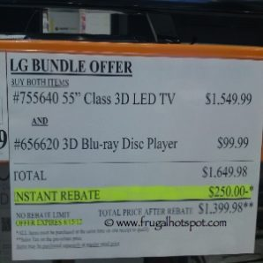 "55"" LG 3D LED Smart TV & 3D Blu-ray Disc Player Costco Price"