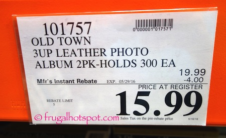 Old Town 2-Pack Leather Photo Album Costco Price | Frugal Hotspot
