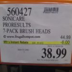 Philips Sonicare ProResults 7-Pack Brush Heads Costco Price
