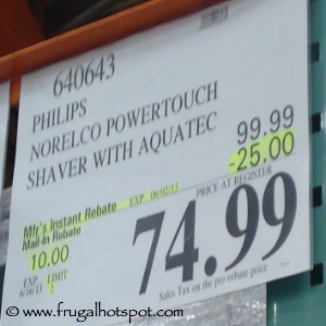 Philips Norelco Powertech Shaver Aquatec Costco Price
