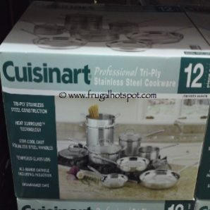 Cuisinart Professional Tri-Ply Stainless Steel 12 Piece Cookware Set Costco