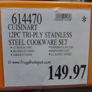 Cuisinart 12 Piece Tri Ply Stainless Steel Cookware Set Costco Price