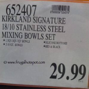 Kirkland Signature 18/10 Stainless Steel Mixing Bowl Set Costco Price